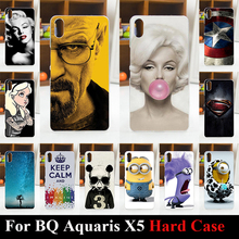 For BQ Aquaris X5 Case Hard Plastic Mobile Phone Cover Case DIY Color Paitn Cellphone Bag Shell  Shipping Free