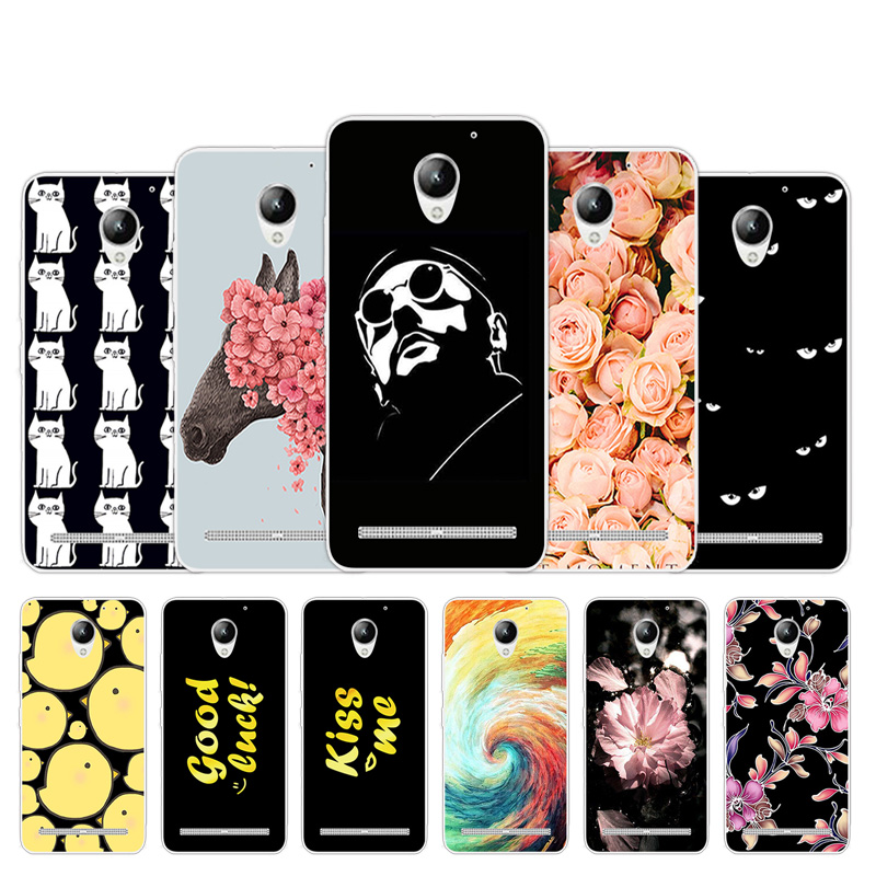 For <font><b>Lenovo</b></font> Vibe <font><b>C2</b></font> <font><b>K10A40</b></font> <font><b>Case</b></font> Letter Design TPU Cover 5.0inch For <font><b>Lenovo</b></font> <font><b>C2</b></font> <font><b>Phone</b></font> <font><b>Case</b></font> Silicon <font><b>Phone</b></font> Bacl Protective Fundas image