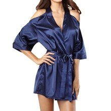 Sleep Wear Sexy Satin Ladies Pajama Lingerie Nightdress Sleepwear Women's Sleep & Lounge 18DEC18
