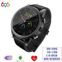 X360 Android Смарт часы 1 + 16 Гб/3 + 32 Гб 1,6 Круглый WiFi gps сим карта 4G Smartwatch телефон спортивный монитор сердечного ритма камера
