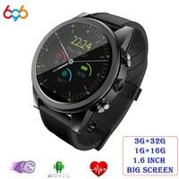 X360 Android Смарт часы 1 + 16 GB/3 + 32 GB 1,6 Круглый WiFi gps сим карта 4G Smartwatch телефон спорта монитор сердечного ритма Камера
