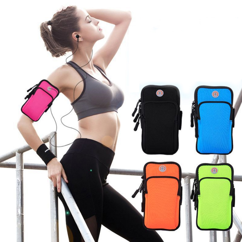 Outdoor Sports Running Gym Sport Armband Case Phone Arm Band Bag Holder For 6 Inch Mobile Phone Smartphone On Hand