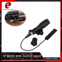 Element Airsoft SF M300 Weapon Light Rifle Tactical Flashlight with Remote Switch Tail Black Waterproof and Shockproof 250 Lumen