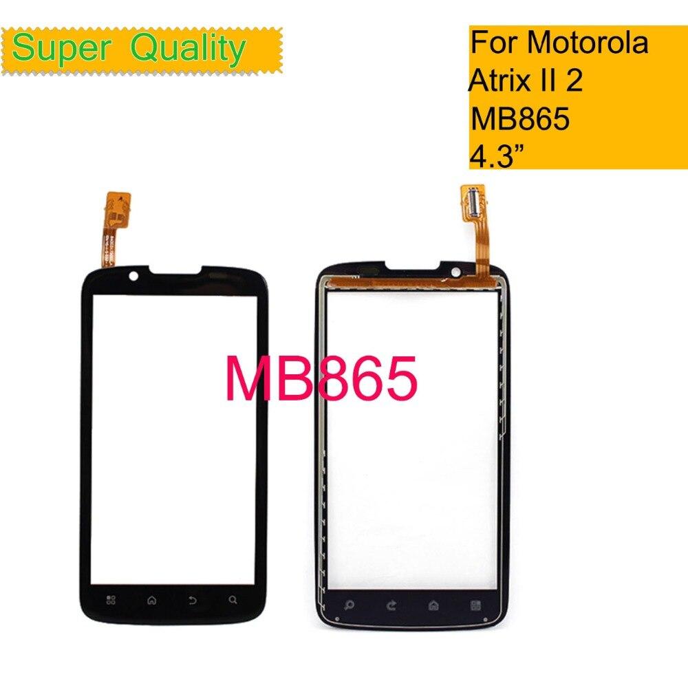 ORIGINAL Touchscreen For Motorola Atrix II 2 MB865 Touch Screen Digitizer Front Glass Panel Sensor 4.3