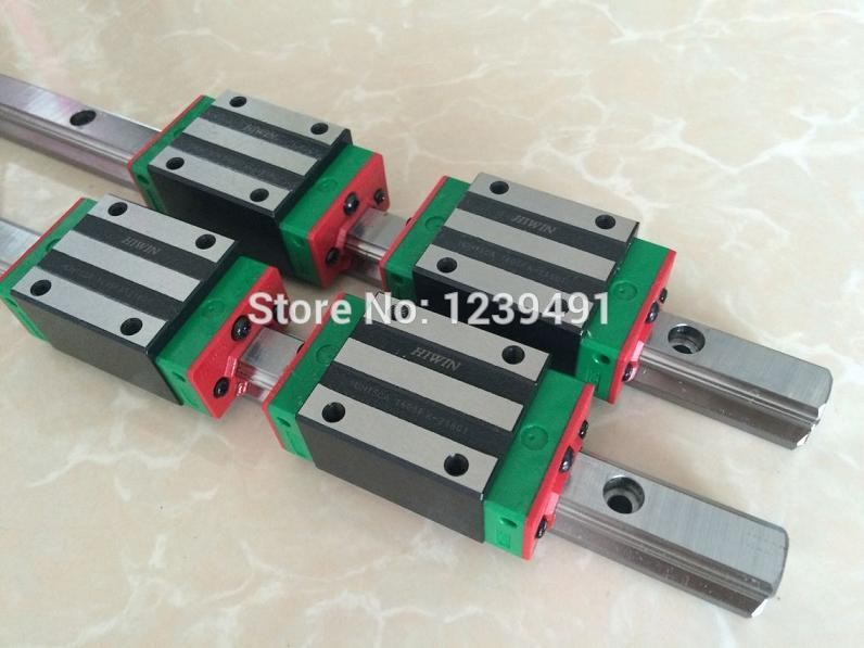 2pcs HIWIN linear guide HGR25 -  1700mm  with 4pcs linear carriage HGH25CA CNC parts