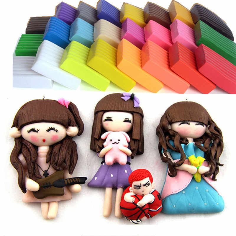 24 Color/set Magic Plasticine Polymer Clay Dough Modeling Clay Oven Bake Dry Playdough Polymer Clay Children DIY Art Crafts Toys