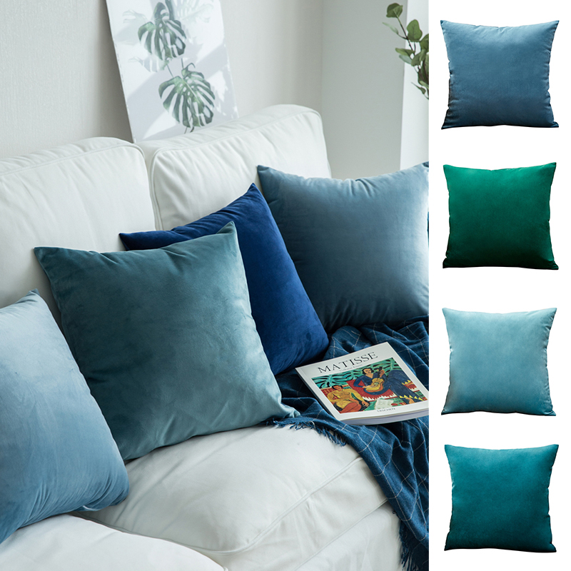 Nordic 50 50 Cushion Cover Velvet Pillow For Living Room Decorative Housse De Coussin 60 60 Home Decoration Funda Cojin Decor in Cushion Cover from Home Garden