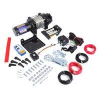Прочный Электрический лебедки нагрузки Ёмкость до 4000lb с дистанционным Управление автомобили внедорожных для ATV двигателей Лифт лебедка 12 В