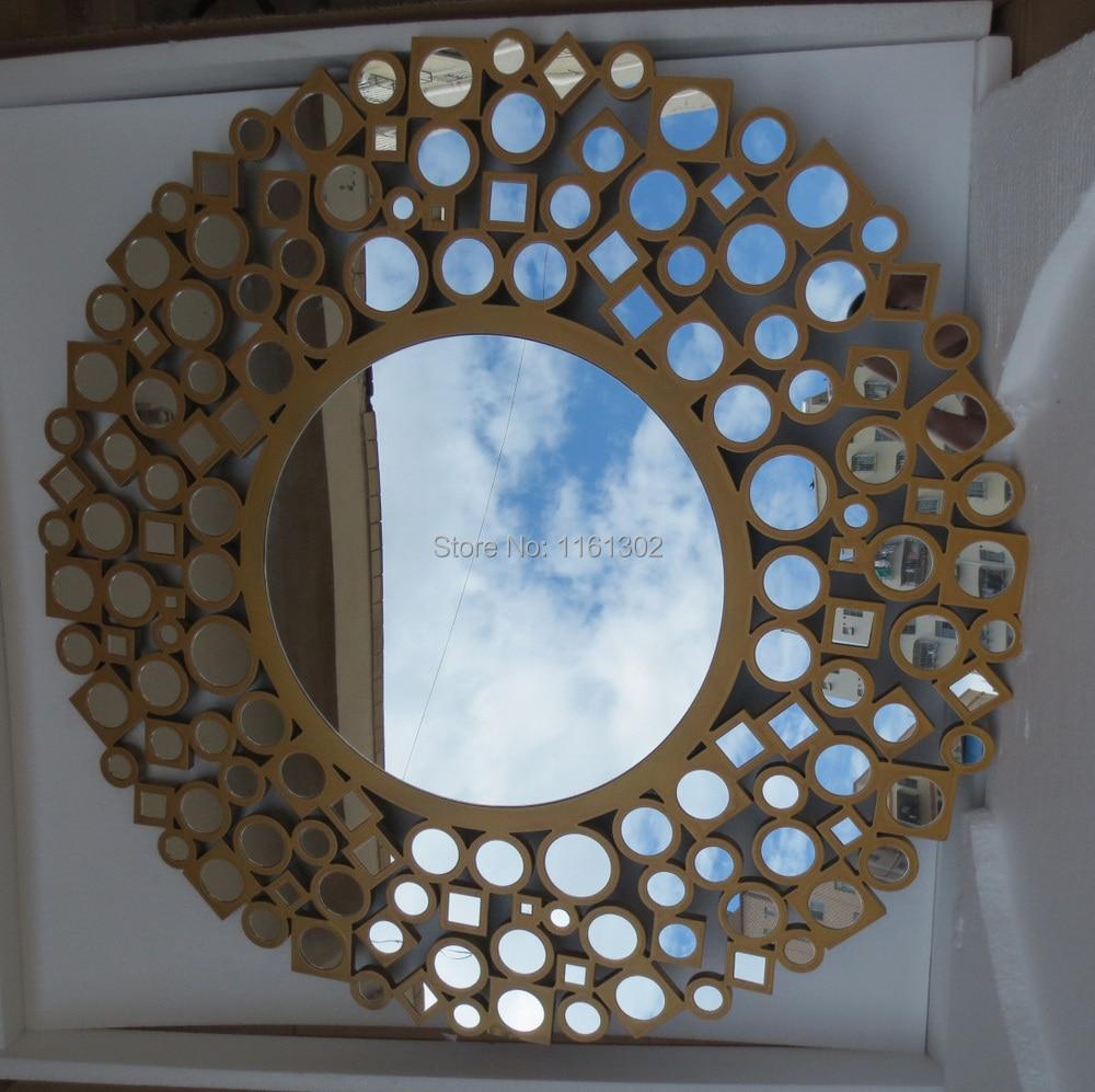 Madera escultura rimming círculos de pared espejo MR 2D0094 en ...