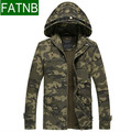 Camouflage Mens jackets New arrival 2016 with Hat 100% Cotton for Autumn Winter coat Military jacket Militar Man clothing