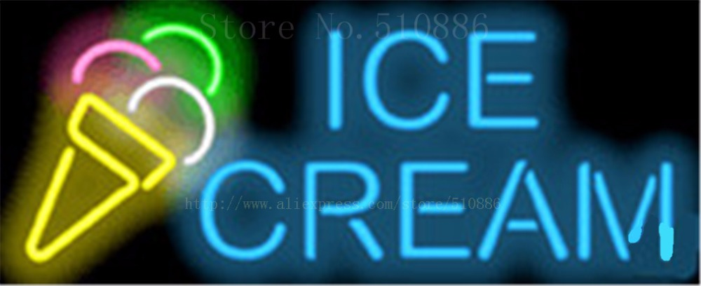 """17*14 """"eis Neonzeichen Real Glas Bier Bar Pub Licht Zeichen Shop-display Restaurant Shop Gelegentliche Werbung Lichter Komplette Artikelauswahl"""
