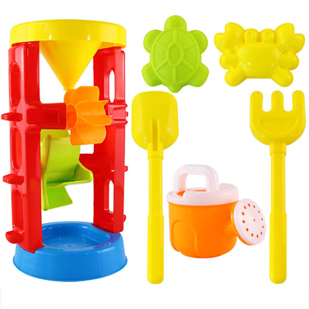 Sandbox Seaside Shovel Toys Summer Funny Water Beach Sand Play Toy Double Wheel Hourglass Shove Animals For Children