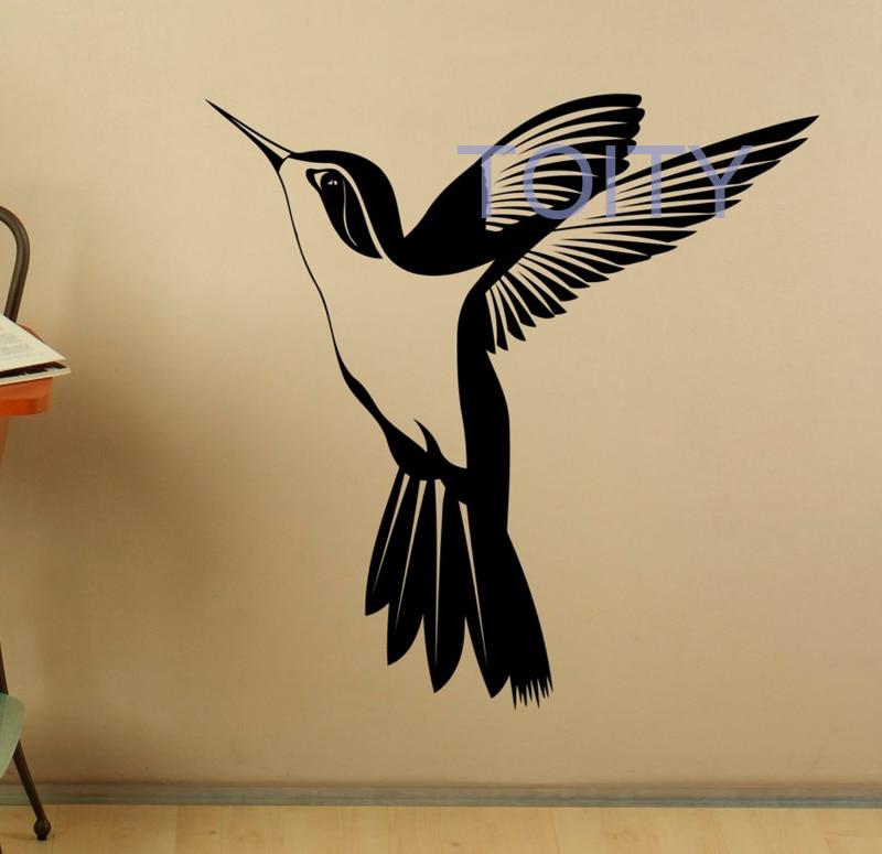 Hummingbird Wall Sticker Colibri Bird Vinyl Decal Home Interior ...