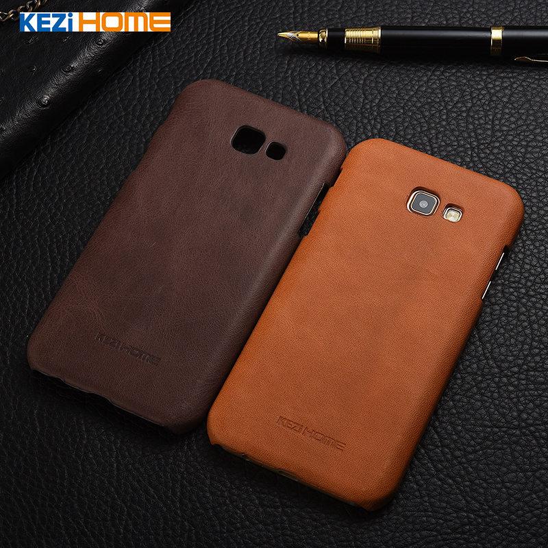KEZiHOME Frosted Genuine Leather Hard Back Cover capa For Samsung Galaxy A3 2017 / A5 2017 / A7 2017 Protector cases coque