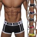 Algodón de alta calidad de la marca de los hombres atractivos del boxeador gay underwear cueca boxers underwear panty boy underpant hombres respirables antideslizantes masculinos