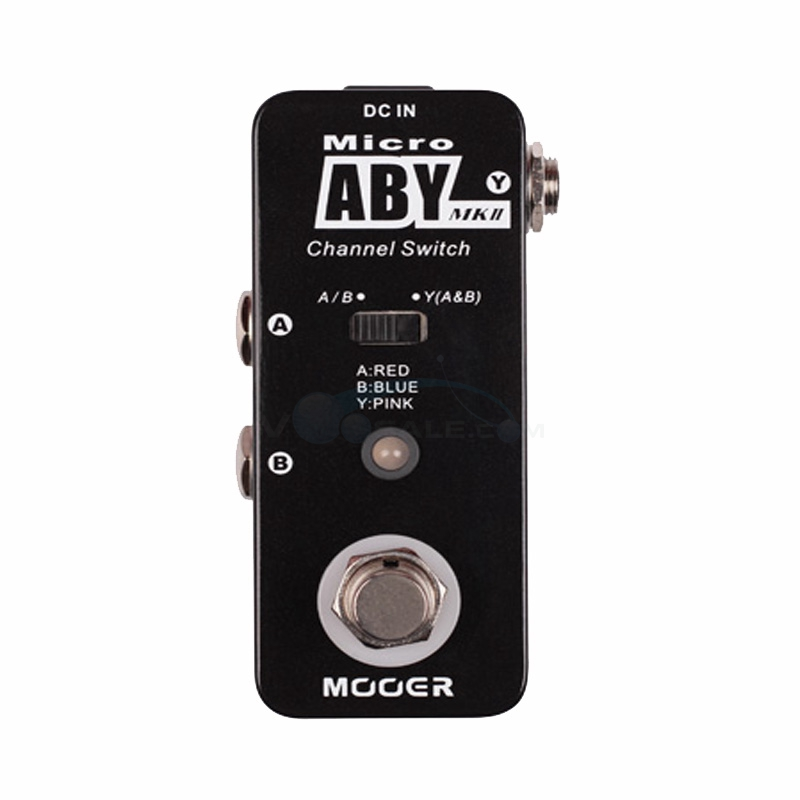 Mooer Micro ABY MK2 Guitar Effect Pedal Channel Switch Effects with True Bypass Full Metal Shell Guitar Parts mooer hustle drive distortion guitar effect pedal micro pedal true bypass effects with free connector and footswitch topper