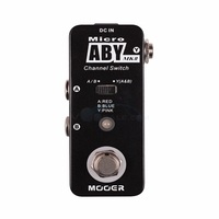 Mooer Micro ABY MK2 Guitar Effect Pedal Channel Switch Effects with True Bypass Full Metal Shell Guitar Parts Guitar Accessories
