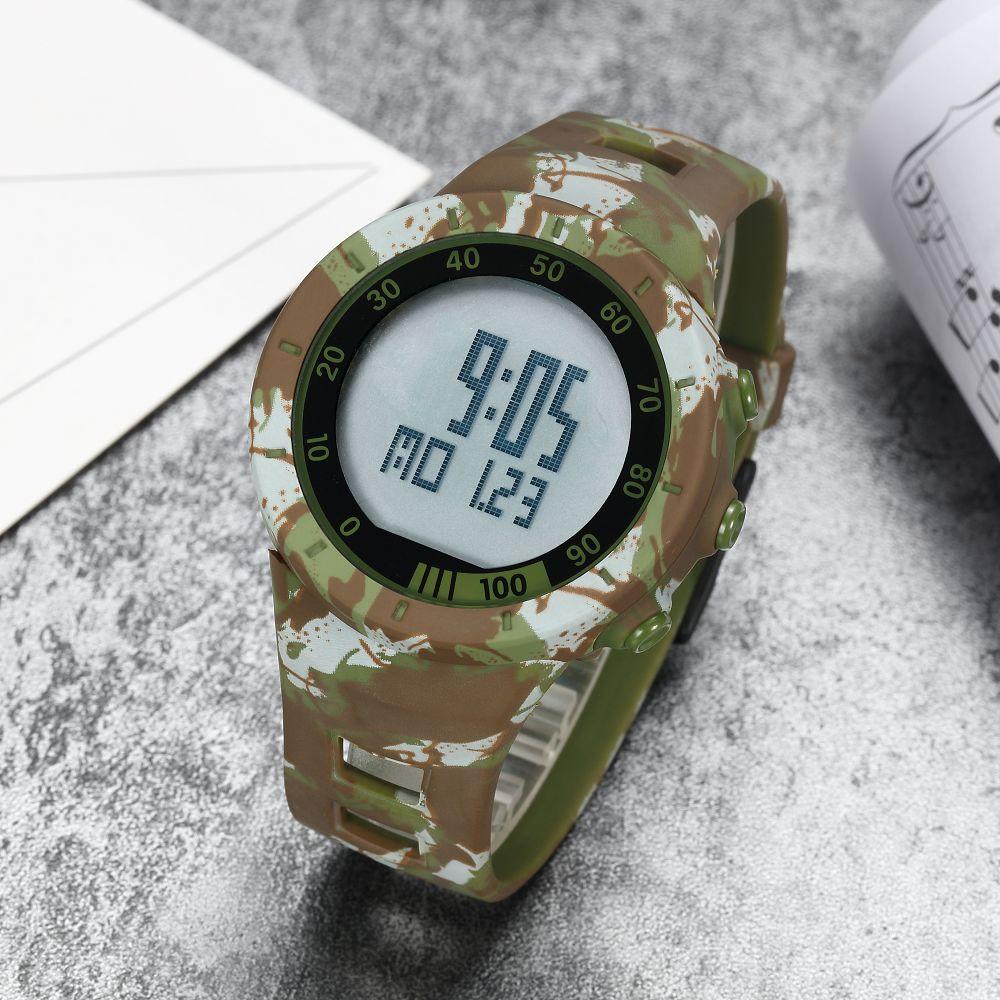 OHSEN Shock Vattenbeständig Gummi Camouflage Watch LED Sport - Herrklockor - Foto 3
