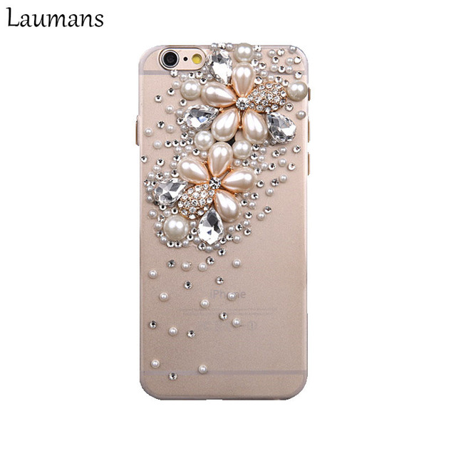 fashion top quality phone cases for apple iphone 6 6s xs pearlfashion top quality phone cases for apple iphone 6 6s xs pearl flower 3d bling rhinestone crystal back phone cover 5s 7 8 plus