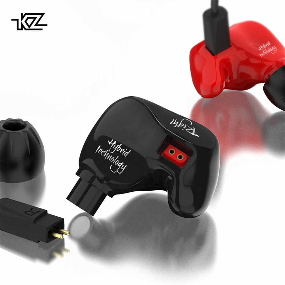 KZ ZS4 Hybrid w ucho HIFI DJ sportowe do biegania bez mikrofonu słuchawki douszne oordopjes audifonos para celular Dropshipping April15