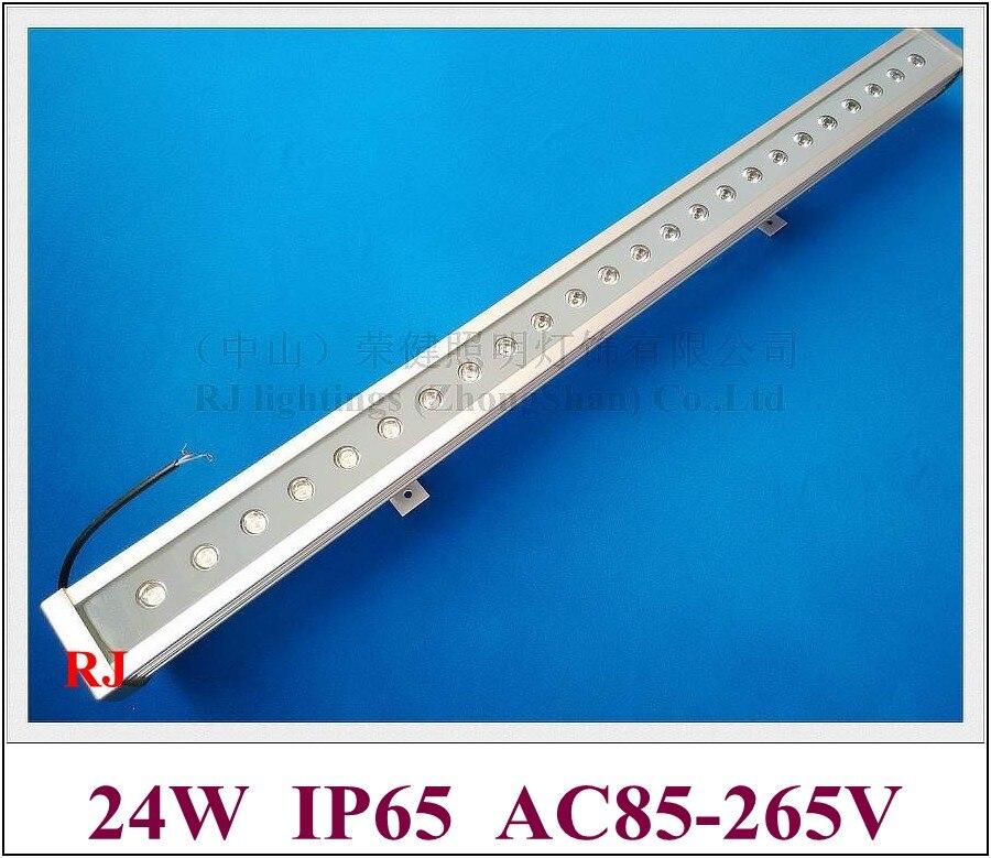 Nouveau design luxueux en aluminium et verre renforcé 24 LED 24 W mur LED rondelle lumière lampe barre de LED lumière d'inondation AC85-265V