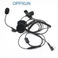 BAOFENG Retevis WOUXUN TYT Two Way Radio Ham C2160A 2 Pin Finger PTT Motorcycle Helmet Radio