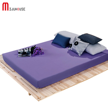 New Solid Color 100% Polyester/Cotton Fitted Bed Sheet Mattress Cover Elastic Band Queen King Size Adults Sheets