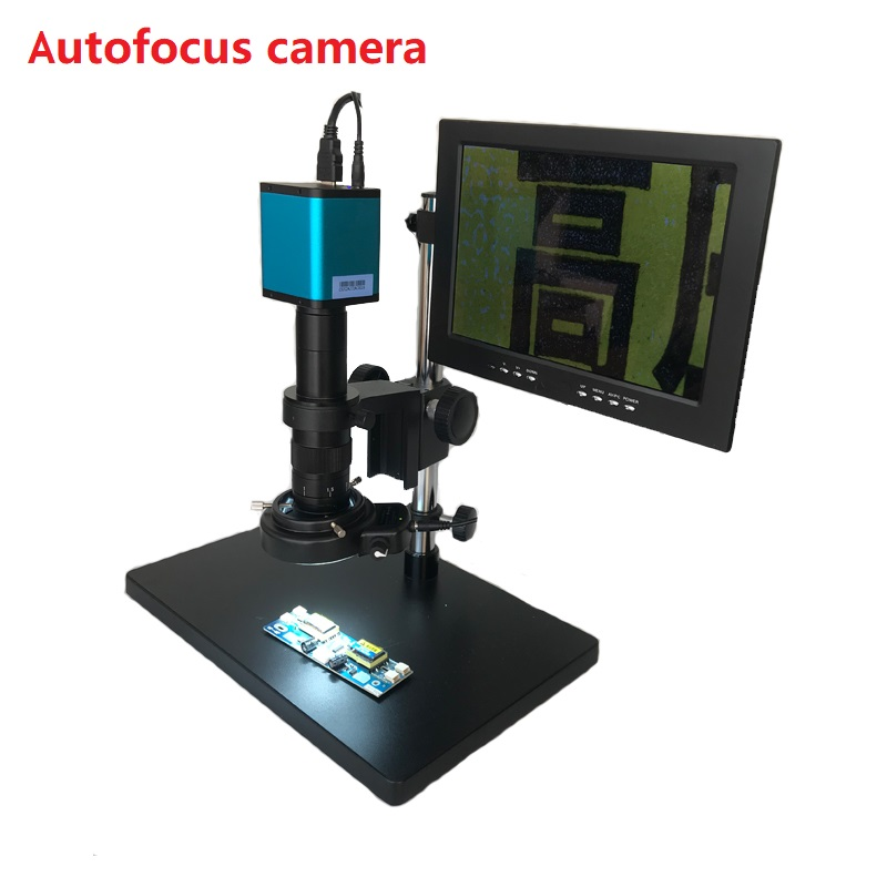 Autofocus SONY <font><b>IMX290</b></font> HDMI TF Video Auto Focus Industry <font><b>Microscope</b></font> Camera +180X 300X C-Mount Lens+10.1