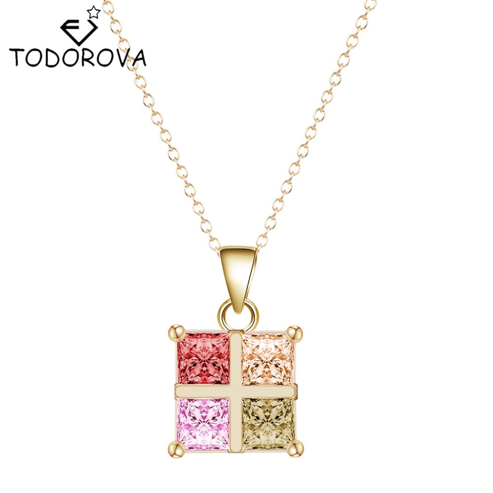 product chain square pendant steel link necklace cross shaped