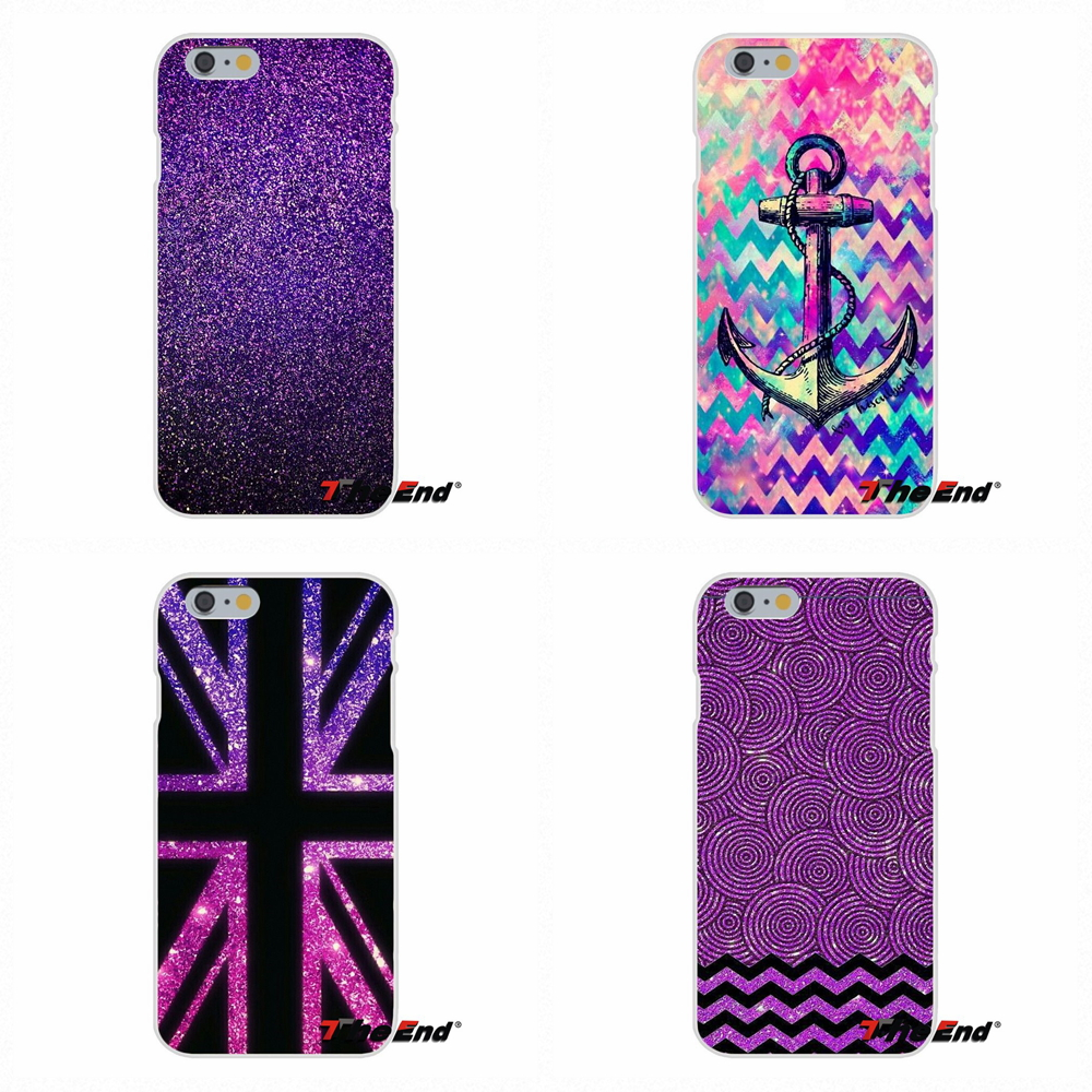 Love Purple Glitter Wallpaper Art For IPhone X 4 4S 5 5S 5C SE 6 6S 7 8 Plus Galaxy Grand Core Prime Alpha Silicone Phone Case In Half Wrapped From