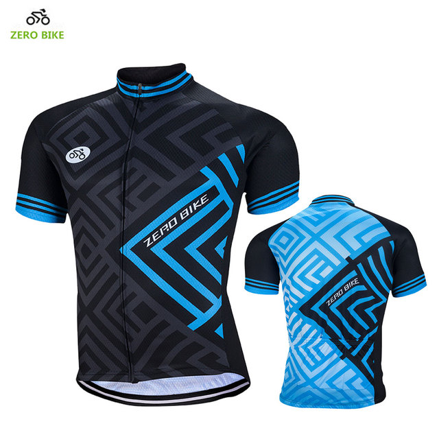 ZERO BIKE Outdoor Sports Breathable Cycling Jerseys for Men Blue Black 100% Polyester  Cycling clothing bicicleta 95abbd66c
