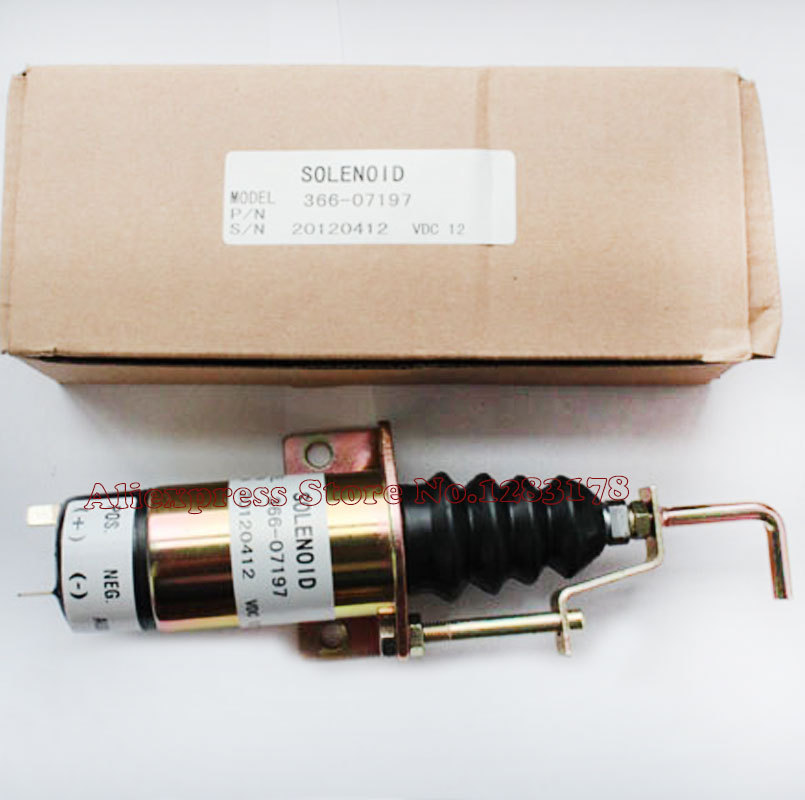Fuel control solenoid 1502 12V for Lister Petter LPW LPWS LPWT Engine Genset SA-3405T 366-07197 3924450 2001es 12 fuel shutdown solenoid valve for cummins hitachi