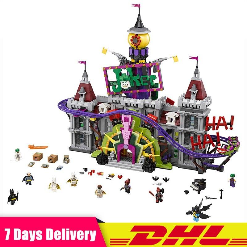 EN STOCK Lepin 07090 Super Hero Le Joker Manoir Ensemble Modèle de Blocs de Construction Briques Jouets pour Enfants Compatible LegoINGlys 70922