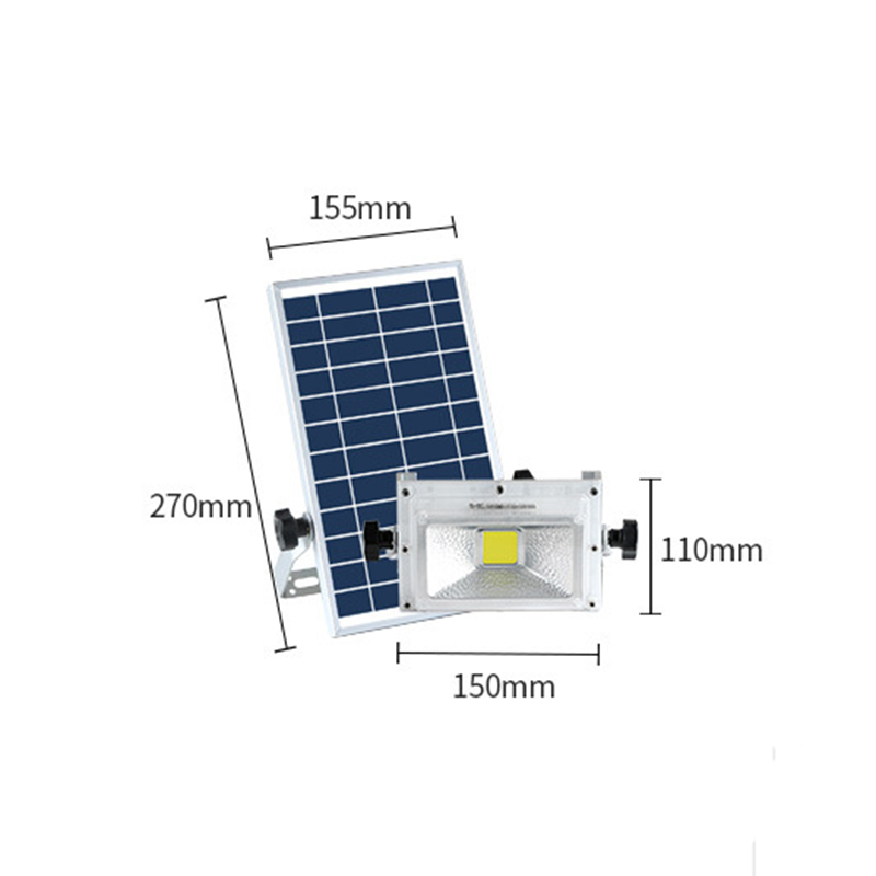 LED Rechargable Portable Solar Flood Light 10W Camping Travel Emergency DC Solar lamp Solar Panel Charging Lamp Outside - 6