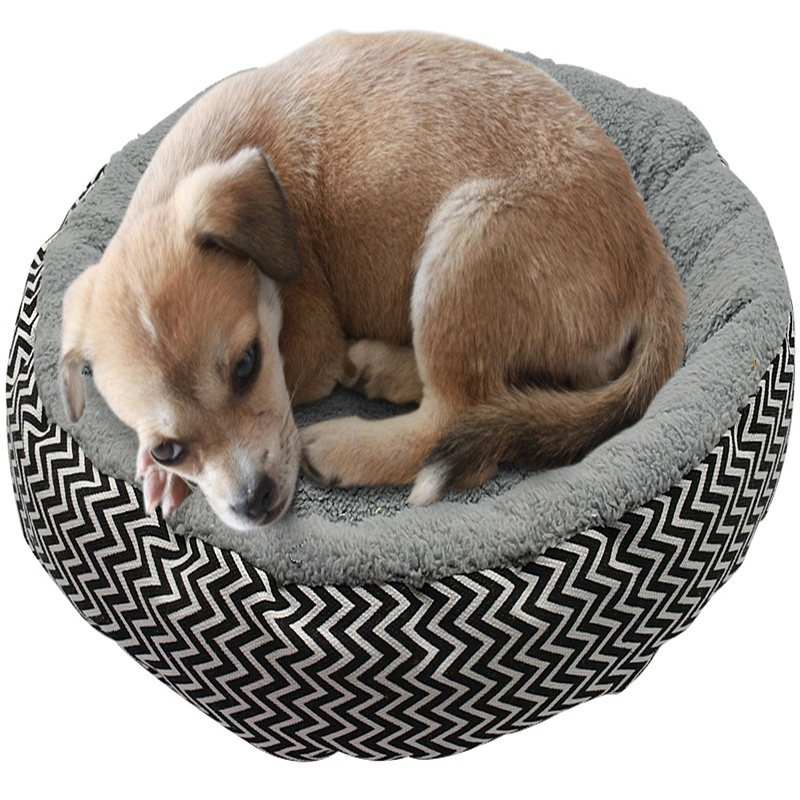 Warm Cat Bed House Round Bed Fodable Dog Sleeping Mat Pad Nest Kennel Pet Cushion Puppy Nest Shell Hiding Burger Bun For Winter #5