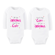 Culbutomind Long Sleeve Fashion Baby Body Suit 2 Pcs/lot Infant Boy Girl Clothes Bebe Jumpsuit Twins Outfit Sets I Am The O