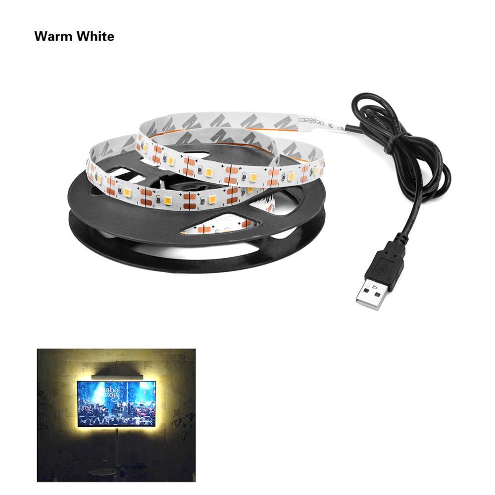RGB светильник для Kicthen лампы 1 м 2 м 3 м 4 м 5 м водонепроницаемый светодиодный светильник s для шкафа Шкаф украшение Ночной светильник светодиодный Диод - Цвет: Single Warm Strip