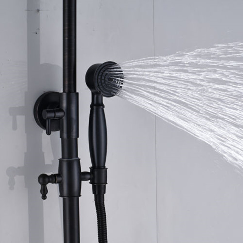 Wall Mounted Orb Shower Faucet Bathroom Rainfall Shower System Set ...