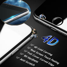 Фотография ON SALE ! GULYNN 4D COLD CARVING Full Cover Tempered Glass for iPhone 6 6S 7 7 Plus Premium Screen Toughened Glass Protective