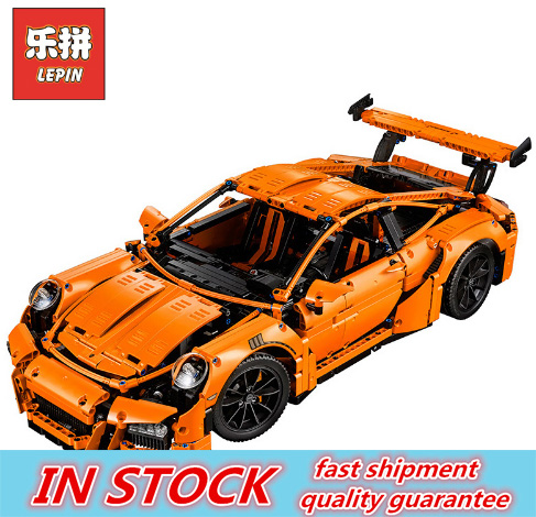 LEPIN 20001 2704PCS technic series Race Car Model Building Kits Blocks Bricks Compatible 42056 Boys Gift Educational Toys gifts