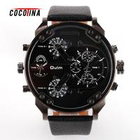 Men Watches Wholesale Two Time Zones Hot Sales Man Leather Watch WT0040