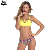KayVis Sexy Brazilian Bikini 2017 Newest Swimwear Women Swimsuit Cross Bandage Top Bikini Set Beach Bathing