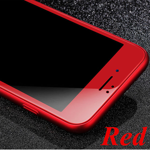For IPhone 7 7 Plus Red Color 4D 2nd Gen 3D Curved Edge Round