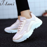 Tleni Women Sneakers Shoes Autumn Runing Shoes For Women White Trainers Shoes Woman Lace Ladies Platform Footwears ZX 213