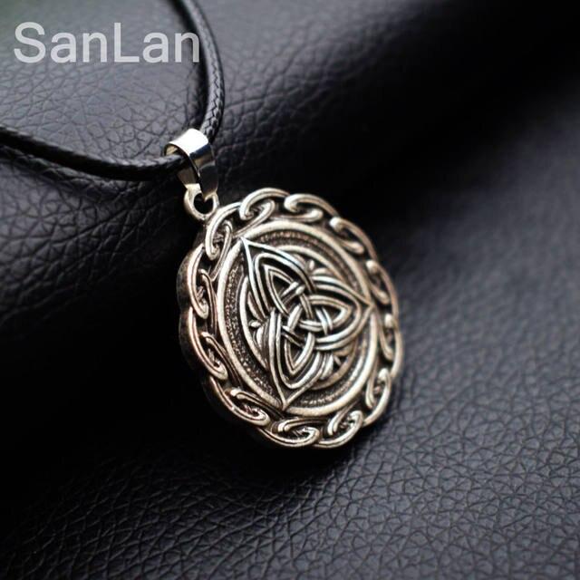Online Shop Trinity Knot Engraved Grey Stone Celtic Love Knot Symbol