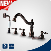 Modern Solid Brass Oil Rubbed Bronze Roman Tub Shower Bathroom Bathtub Faucets