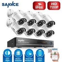 Sannce 1080n 8ch dvr cctv system bezpieczeństwa hd 8 sztuk 720 p IR-CUT 1.0MP AHD System Kamer CCTV 8 Kanałów Wideo Nadzoru zestaw