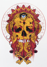Flame Fire Skull With Eye Tattoo 21 X 15 CM Sized Sexy Cool Beauty Tattoo Waterproof Hot Temporary Tattoo Stickers