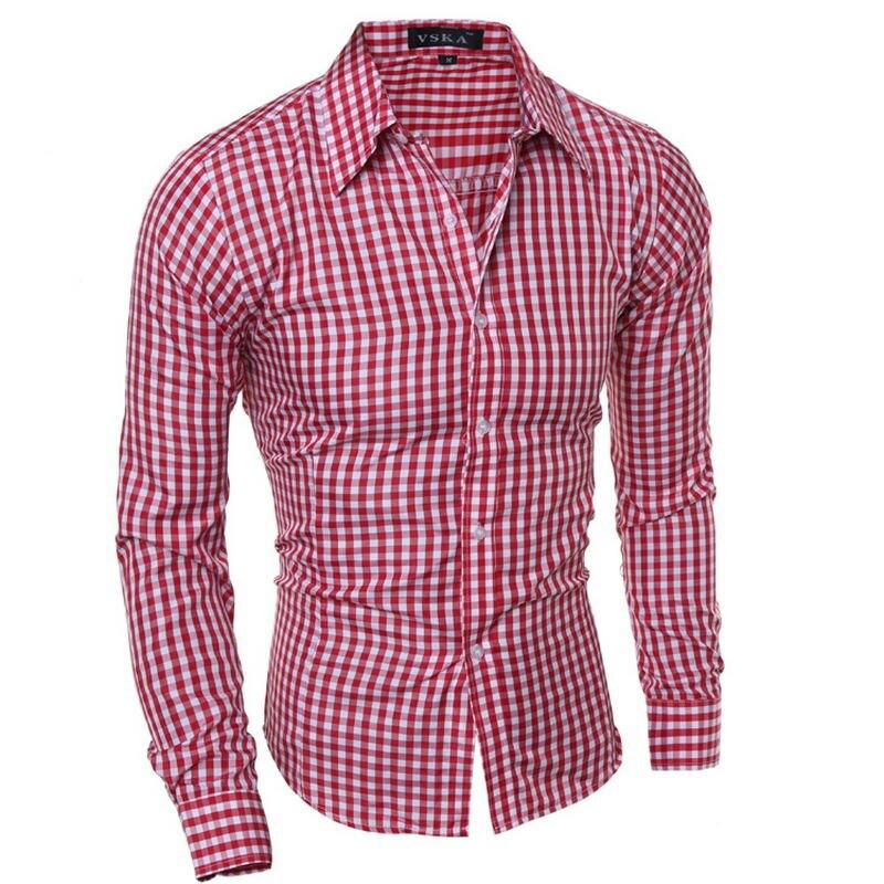 2018 Hemd Männlichen Plaid Ohne Tasche Männer Kleidung Slim Fit Männer Langarm-shirt Männer Casual Männer Shirt Social Plus Größe M-xxl