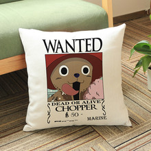 One Piece Wanted Cushion Cover